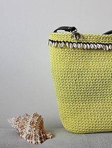 Kabelky - Taška - košík (Žltá) - 9629209_