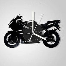 Hodiny - Motorka Kawasaki - vinylové hodiny (vinyl clocks) - 9627985_