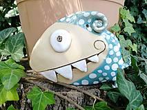 Dekorácie - Ryba zubatica modrá č.1 - 9628048_