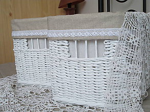 Košíky - Košíky - Biele v ražnej košieľke II - 9629441_