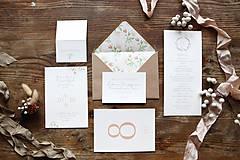 Papiernictvo - Svadobné oznámenia Marhuľové ruže pre Vieru - 9627357_