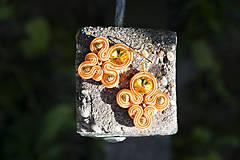 Golden Oranges - soutache náušnice
