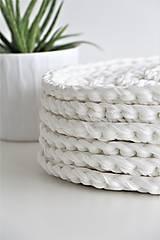 Úžitkový textil - ...podsedák na stoličku WHITE - 9627857_