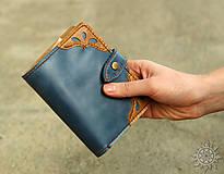 - Kožená peňaženka aj na veľké doklady V.b - 9627989_