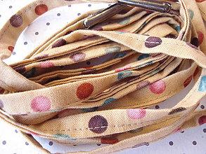 Obuv - Šnúrky do tenisiek - veselé guličky na béžovej - 9628120_