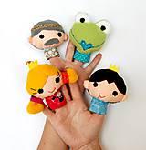 Hračky - Sada maňušiek na prst - Rozprávka Žabí princ - na objednávku - 9629395_