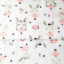 Textil - zajkovia baletky, 100 % bavlna Poľsko, šírka 160 cm, cena za 0,5 m - 9628332_
