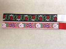 Folk opasok 4,5 cm obojstranný (čierno-červený opasok so stuhou podľa želania)