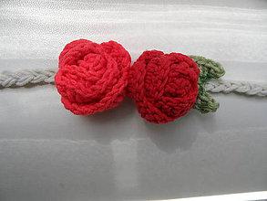 Ozdoby do vlasov - čelenka s dvoma ružičkami - 9628936_