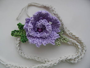 Ozdoby do vlasov - čelenka s fialovou kvetinkou - 9629273_
