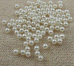 Korálky - korálka plastová perleťová IVORY 6mm - 9628880_