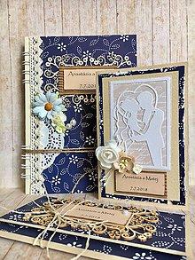 Papiernictvo - Svadobná sada, set pre novomanželov - 9628621_
