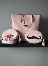 Kabelky - Kožená SHOPPER BAG- LOLA- Staroružová - 9629537_