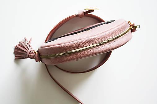 Kožená kabelka JOSÉ (na opasok  s remienkom)-STARORUŽOVÁ   LOOSA ... 2de7c225065