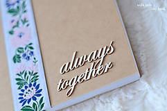 """Papiernictvo - Zápisník """"Always together"""" (so stuhou) - 9629344_"""