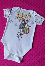 Detské oblečenie - Zvieratká v balóne - 9627381_