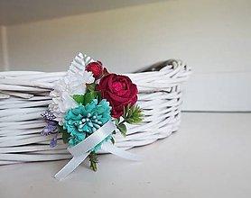 Pierka - Svadobé kvety - pierko, cyklamenová, bordová, ružová, tyrkys - 9629565_