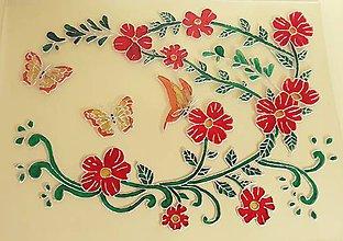 Obrázky - Tanec motýľov medzi kvietkami (Oranžová) - 9626942_