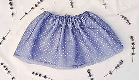 Detské oblečenie - Tylovo-bodkovaná suknička - 9628885_