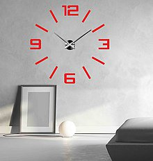 Hodiny - Veľké nástenné hodiny farebné X0037 2D Plexisklo (Béžová) - 9627768_