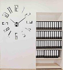 Hodiny - Luxusné nástenné hodiny-Veľké čísla - Zrkadlové hodiny - 9628049_