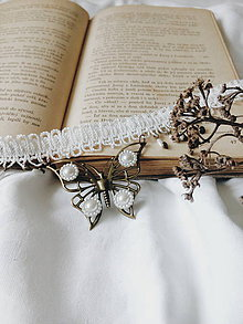 Náhrdelníky - Vintage motýľ - 9629652_