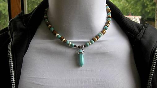 Pánsky prírodný náhrdelník s tyrkenitom 5642e2852c