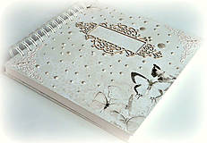 Papiernictvo - Album,kniha hostí,album k promócii,fotoalbum,kniha prianí-Elegancia - 9627615_