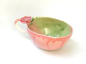 Nádoby - veľká šálka ružová  (šálka SA 6) - 9628477_