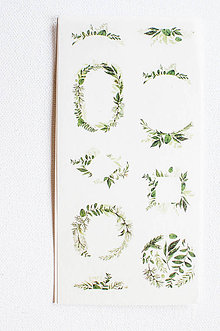 "Papier - Akvarelový set - nálepky ""Greenery"" (Greenery IV.) - 9627757_"