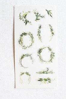 "Papier - Akvarelový set - nálepky ""Greenery"" (Greenery V.) - 9627759_"