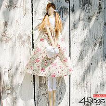 Bábiky - Anjelky bodkované (Ružová) - 9627983_