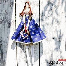Bábiky - Anjelky bodkované (Modrá) - 9628369_