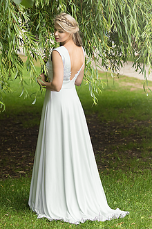Šaty - VÝPREDAJ Svadobné úpletové šaty - 9629043_