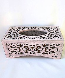 Krabičky - Vyrezávaný servítkovník-staroružový - 9632567_