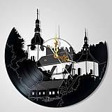 Hodiny - Špania dolina / kostolík - vinylové hodiny (vinyl clocks) - 9631276_