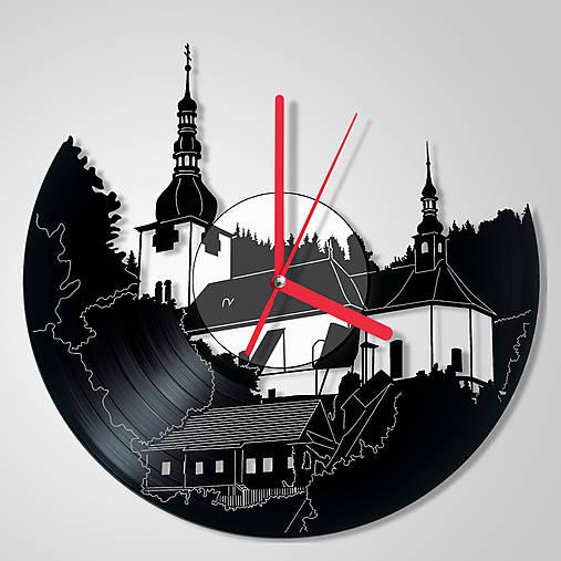 Špania dolina / kostolík - vinylové hodiny (vinyl clocks)