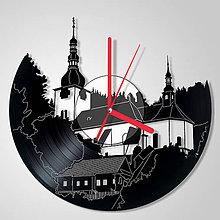 Hodiny - Špania dolina / kostolík - vinylové hodiny (vinyl clocks) - 9631275_