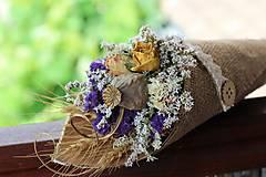 Dekorácie - Kvetinový kornútok - 9630665_