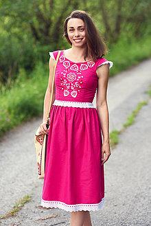 Šaty - Vyšívaný top so sukňou - 9630108_