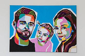 Obrazy - Portret rodiny - 9630468_