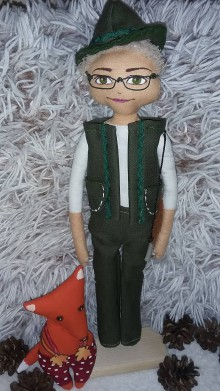 Bábiky - Personalizovaná bábika - poľovník - 9631035_