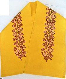 Úžitkový textil - Vyšívaný obrus stredový, 26 x133,5 cm, Rastlina - 9630332_