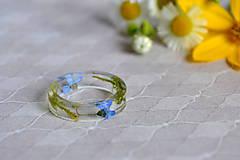 Prstene - Prsteň Nezábudka a mach (2468 A) (EU 51 (vn. priem. 16,25 mm)) - 9632091_