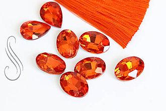Komponenty - kabošon oval 10x14/ 1ks (Oranžová) - 9631324_