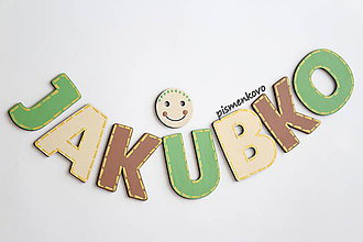Detské doplnky - JAKUBKO meno z drevených písmen pre chlapca - 9631802_