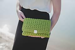 Kabelky - Zelená listová  kabelka - 9632394_