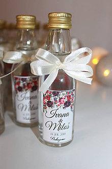 Darčeky pre svadobčanov - Flaštičky - svadobné výslužky - 9632281_