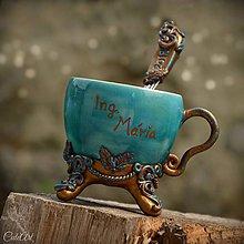 Nádoby - Vzácna bytosť (promócie) - šálka na kávu s lyžičkou - 9630904_