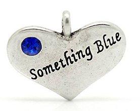 """Komponenty - Prívesok strieborný """"something blue"""" 2,2 x 1,8 cm - 9632041_"""